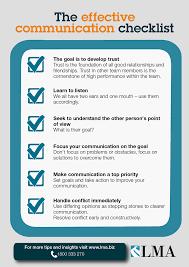 the effective communication checklist lma nz