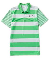 light green polo shirt nike golf breathe bold stripe short sleeve polo shirt dillards