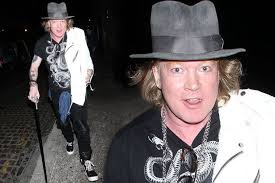 Axl Rose Meme - axl rose uses a cane on night out in london after hitting out at