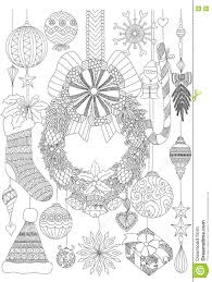 christmas card coloring pages doodles about christmas decorative stuffs for coloring book