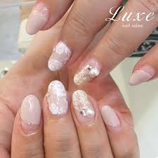 fairy like wedding nails for your big day