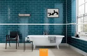 White And Blue Tiles In Bathroom 10 Custom Subway Ceramic Wall Tile Designs By Fap Ceramiche