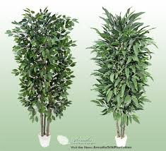 2 potted 7 realwood artificial tree ficus mango ebay