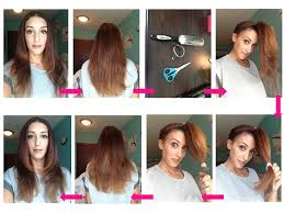 how to give yourself a haircut d i y layered haircut beautyhack hair beauty pinterest