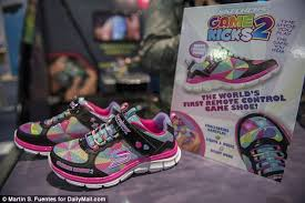 skechers light up shoes on off switch sketchers new game kicks sneakers keep children entertained with a