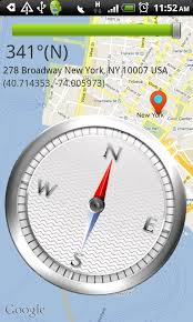 map of usa with compass compass map android apps on play