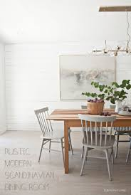 before and after rustic modern scandinavian dining room
