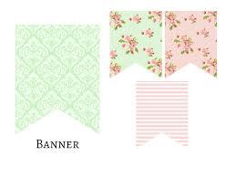 printable diy pennant banner full alphabet custom mint green
