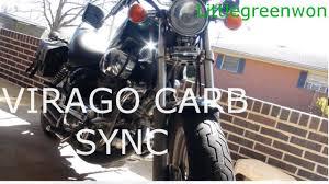92 virago carb sync ports youtube