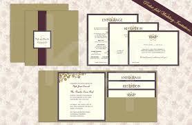 Wedding Stationery Autumn Vines 01 Pocket Fold Wedding Invitation Kalidad Prints