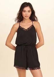 one shorts jumpsuit black patchwork lace shoulder halter neck backless one