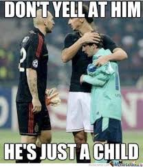 Funny Soccer Meme - don t yell at him he s just a child funny soccer meme