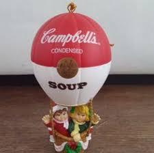 campbells soup kids st bernard dog boy christmas ornament