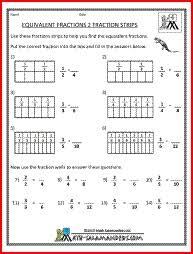 12 equivalent fractions worksheet 4th grade equivalent fractions