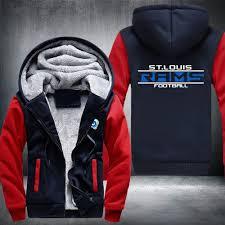 mustang broncos football usa size football team mustang broncos zipper hoodie winter fleece