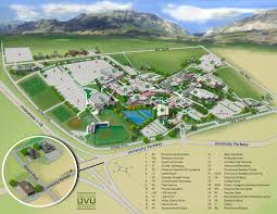 University Of Montana Campus Map by Utah Valley University Map Utah Valley University 800 S