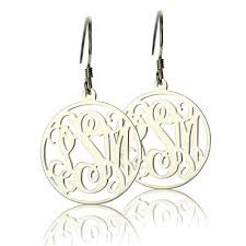 monogrammed earrings personalized earrings
