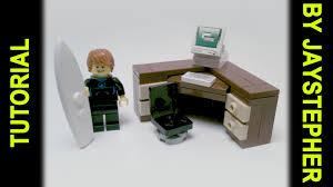 tutorial lego corner office desk cc youtube