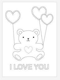 valentine teddy bear coloring favecrafts