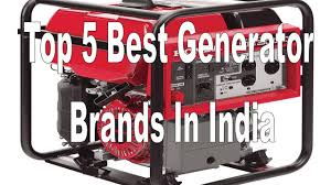 top 5 best generator brands in india for home office use