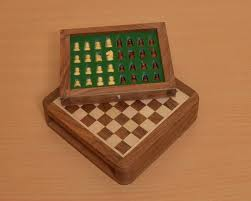 Wooden Chess Set Buy Travel Magnetic Wooden Chess Set Online Size 5