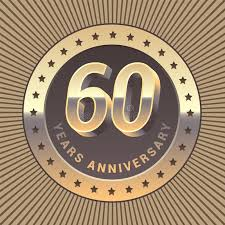 60 years anniversary 60 years anniversary vector icon logo stock vector illustration