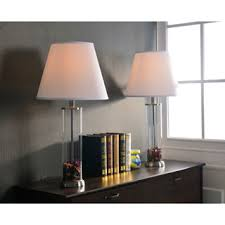 clear glass fillable table lamp set of 2 free shipping today