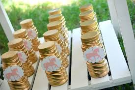 1st birthday party favors kara s party ideas gold painted favors from a carousel 1st