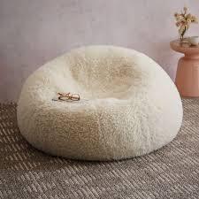 faux fur beanbag sheepskin west elm