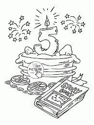 happy 5th birthday coloring page for kids holiday coloring pages
