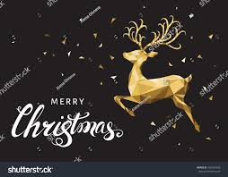christmas low poly triangle reindeer xmas stock vector 496503358