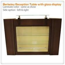 Reception Desk With Glass Display Reception Desks Salon Furniture Nail Supply