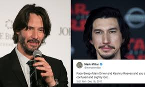 Keanu Reeves Meme Picture - this adam driver keanu reeves face swap meme is turning the