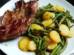 cuisine haricot vert recette de poelé haricots vert p de terre sautées et sa bavette