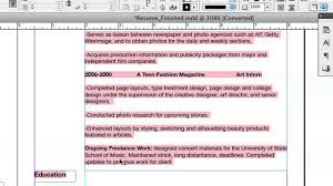 Indesign Resume Tutorial 2014 Doing Your Resume In Indesign Indesign U0026 Graphics Youtube