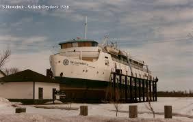 hrm queen elizabeth sails aboard the ms lord selkirk ii in 1970