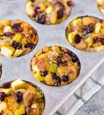 easy stuffing recipes for thanksgiving stuffing muffins with sausage and apples