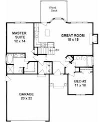 A 1 Story House 2 Bedroom Design The 25 Best 2 Bedroom House Plans Ideas On Pinterest Small