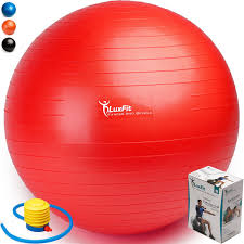 Pilates Ball Chair Size by Amazon Com Exercise Ball Luxfit Premium Extra Thick Yoga Ball