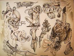 tattoo flash 4 by greglakowske on deviantart