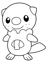 pokemon coloring pages of snivy pokemon black and white coloring pages of oshawott pictures 2 hair
