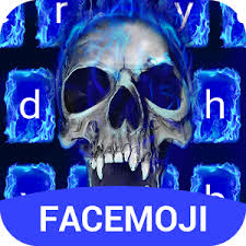 emoji keyboard 6 apk blue skull emoji keyboard theme for instagram v6 0 6 apk