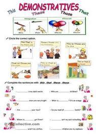 sample of worksheet for demonstrative pronouns teaching esl to