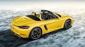 porsche cayman yellow evs30 porsche cayman electric concept showcases turbo charging