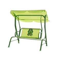 sunjoy frog steel kiddy patio swing 110205013 the home depot