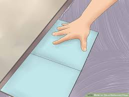 Bathroom Construction Steps How To Tile A Bathroom Floor With Pictures Wikihow