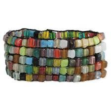 colored bead bracelet images Wholesale multi colored square bead mosaic bracelet zad fashion jpg