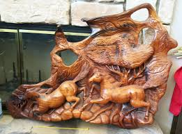 made horses wood carving wood sculpture from the