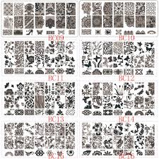 1pcs flower lace nail stamping plates stainless steel nail