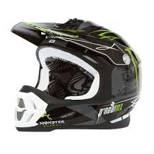 monster energy motocross gear o u0027neal 7series monster dh helmet black green amazon co uk car